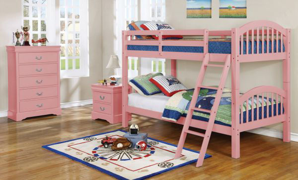 Picture of ALEIDA PINK TWIN/TWIN BUNKBED