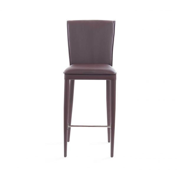 Picture of BAR STOOL 2/BOX BROWN PU