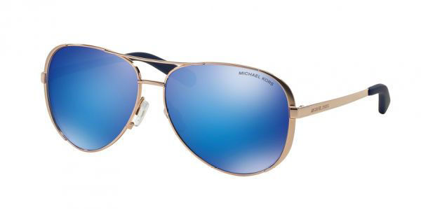 Picture of CHELSEA SUNGLASSES GOLD/BLUE