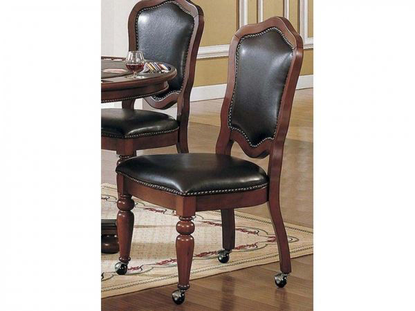 Picture of CHERRY FINISH CASTER CHAIR