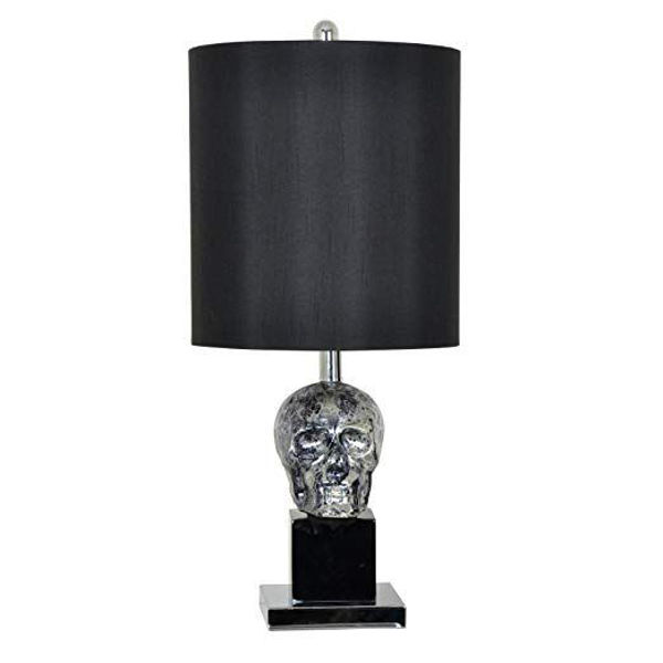 Picture of BLACK SKULL TABLE LAMP