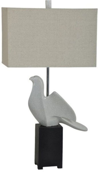 Picture of PERCHED TABLE LAMPSET WHITE&BL