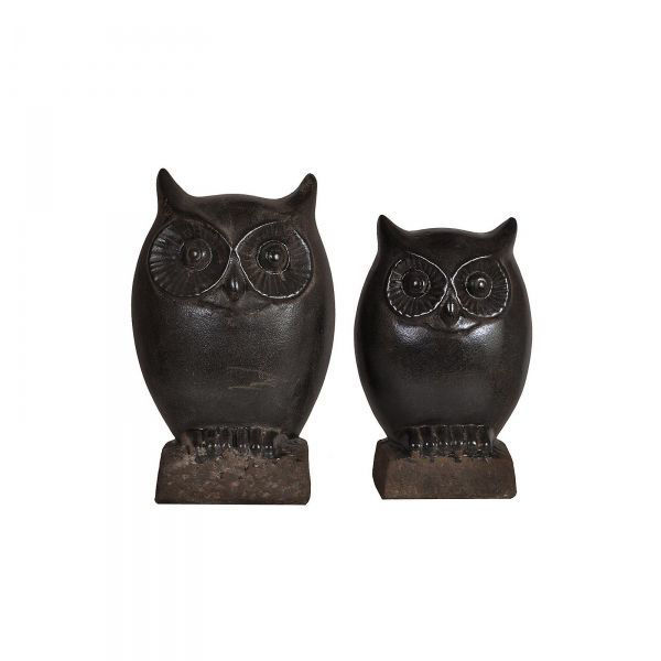 Picture of NIGHT OWL STATUES SET OF 2