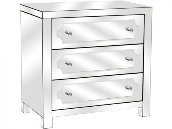 Picture of ZOE 3 DRAWER BEVELED MIRROR