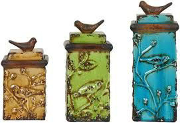Picture of BIRD SONG BOXES SET OF 3