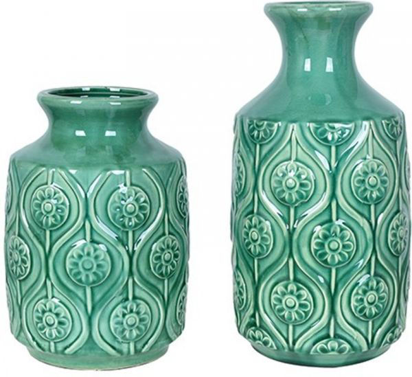 Picture of TUTOR ROSE VASES TURQUOISE