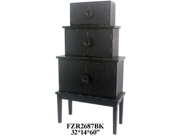 Picture of FEMI BLACK WOOD CABINET