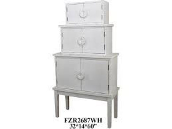 Picture of FEMI WHITE WOOD CABINET