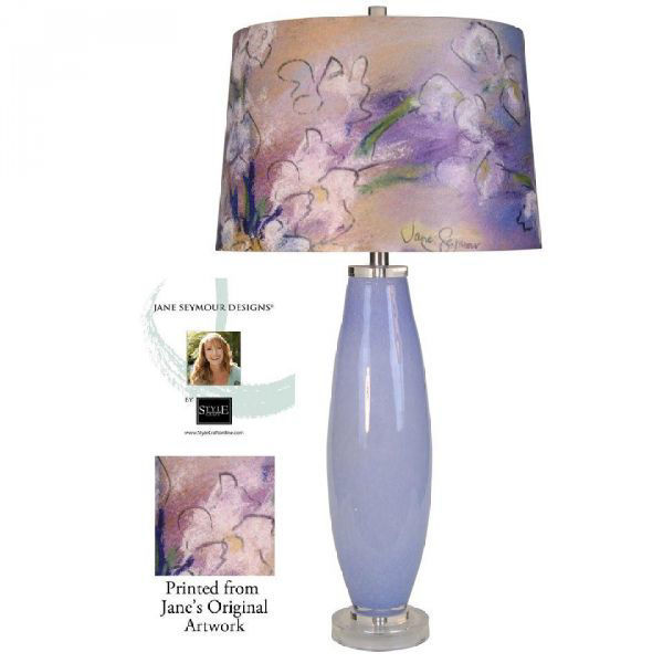 Picture of LILAC GLASS WITH PRINT