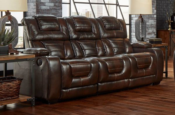 Picture of MANHATTAN-BROWN LEATHER SOFA