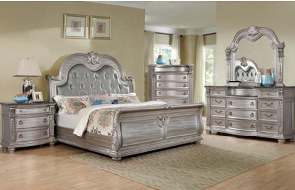 Picture of CHARLOTTE 3 DRAWER NIGHTSTAND.