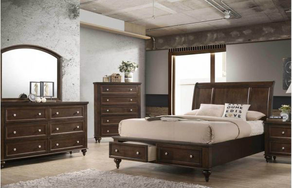 Picture of Casey 5 Drawer Chest Brown
