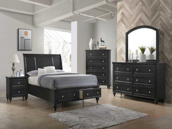 Picture of CASEY BLACK DRESSER, 6 DRAWERS