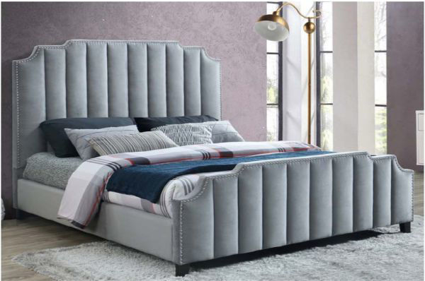 Picture of SPENCER KING BED GRAY