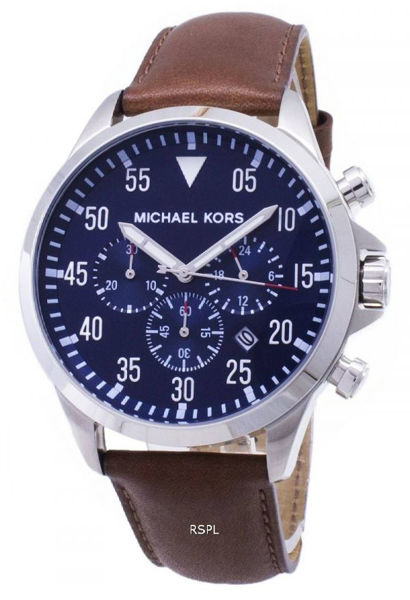 Picture of Mens Gage Brown Strap chronogr