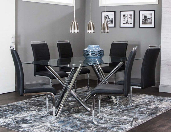 Picture of MANTIS 7PC GLASS DINETTE + 6