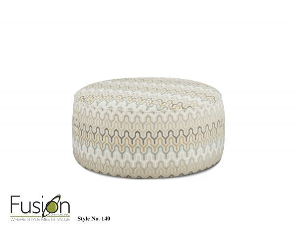 Picture of BE COOL PARCHMENT OTTOMAN