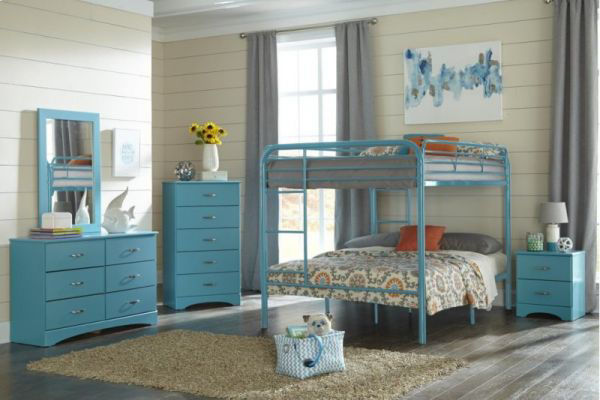 Picture of TURQOISE FULL/FULL BUNKBED