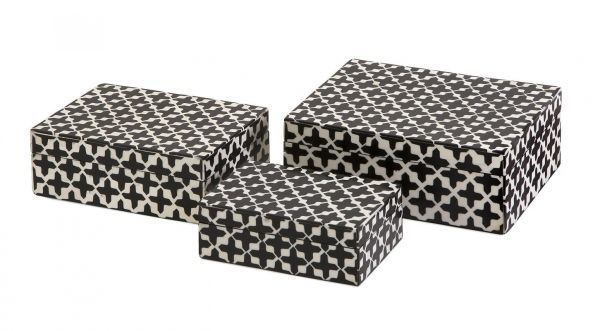 Picture of LIZZIE BONE BOXES SET OF 3