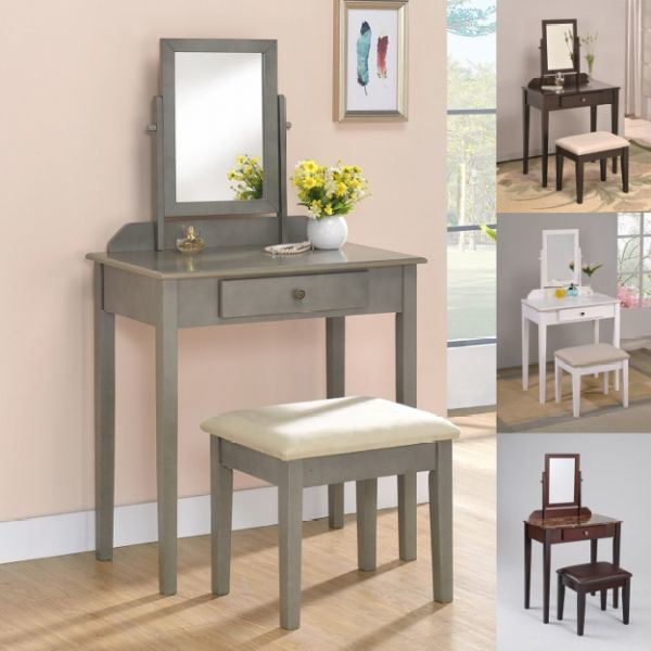 Imagen de IRIS VANITY TABLE AND STOOL