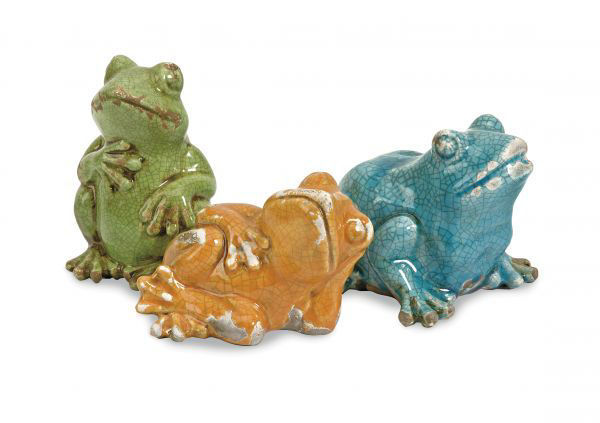 Picture of GARZA CASUAL FROGS SET OF 3