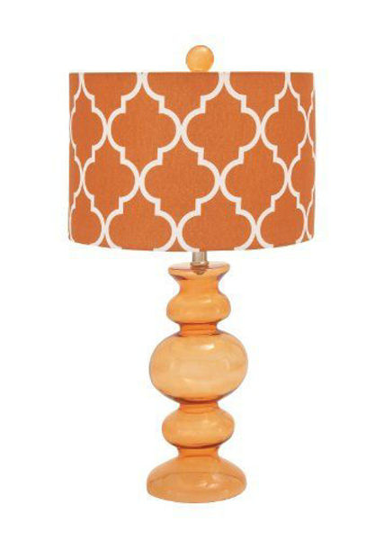 Picture of ORANGE GLASS LAMP SET