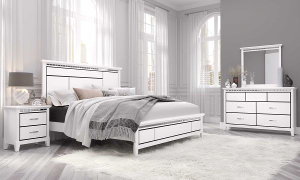 Imagen de AVA WHITE QUEEN BED SIDE RAILS