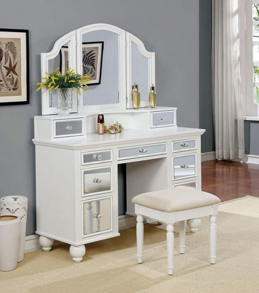 Picture of VANITY W/ STOOL, WHITE