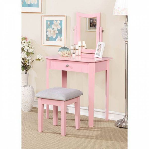 Picture of DELINA PINK VANITY W/ STOOL