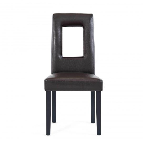 Picture of DINING CHAIR (2/BOX) BROWN