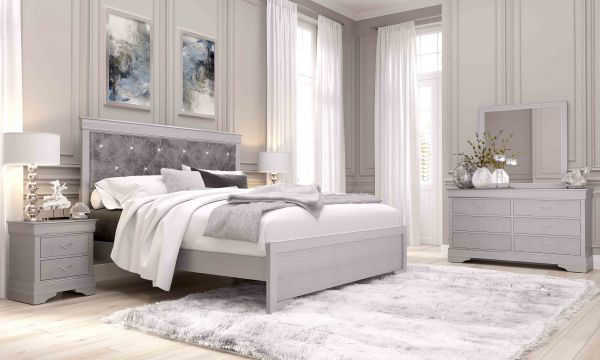 Picture of QUEEN BED - HEADBOARD SILVER