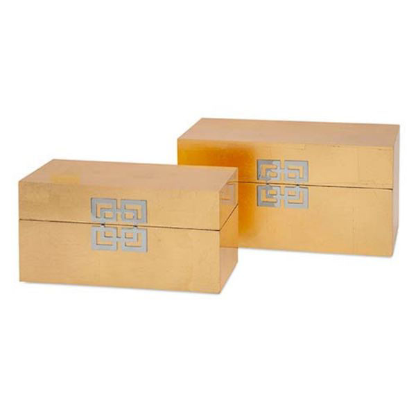 Picture of DANES GOLD LEAF BOXES SET OF 2