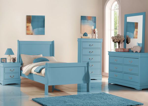 Picture of UMA 2 DRAWER NIGHSTAND BLUE
