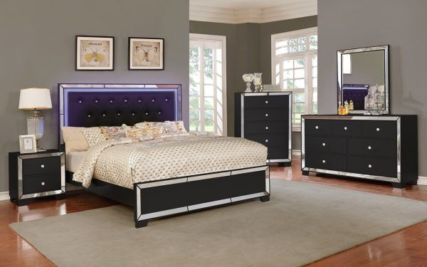 Picture of ANZELL BLACK QUEEN HEADBOARD
