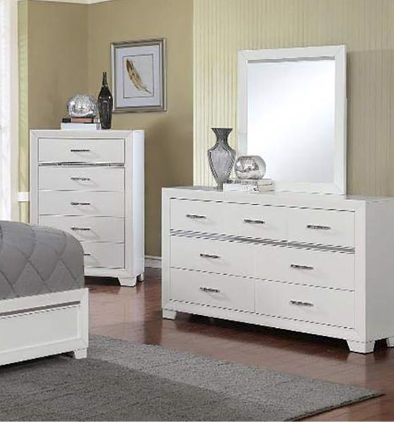Picture of Pandora 5 Drawer Chest White