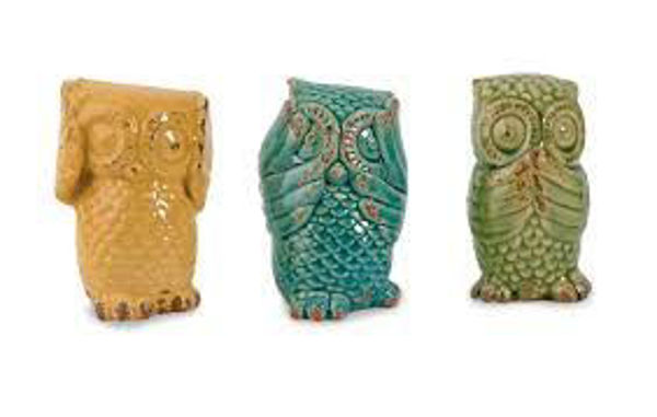 Picture of WISE OWLS- SET OF 3