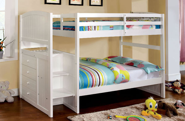 Picture of APENZELL WHITE T/F STAIR BUNK