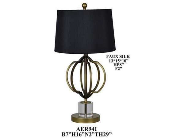 Picture of ALFRED METAL CYRSTAL LAMPSET
