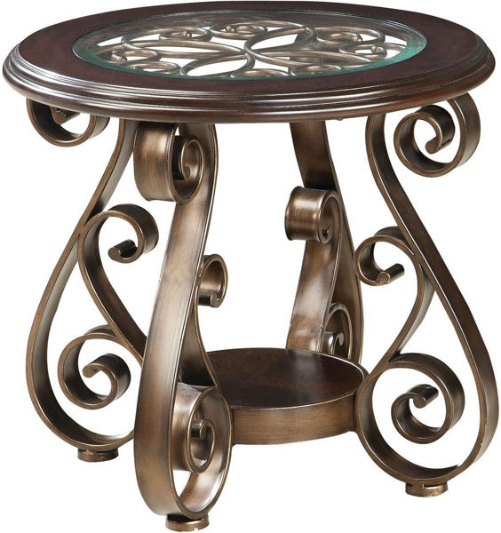 Picture of BOMBAY ROUND END TABLE,