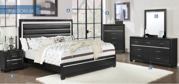 Picture of PANDORA FULL LED BED BLACK