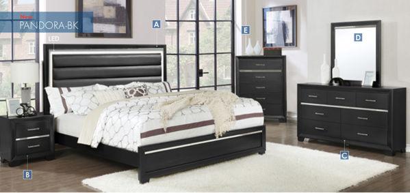 Imagen de PANDORA TWIN BED BLACK(BRONZE)