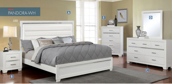 Picture of PANDORA WHITE LED BED