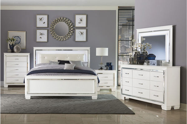 Picture of VALENTINO KING 5PC GRP WHITE