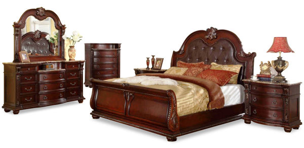 Picture of CHARLOTTE WALNUT QUEEN 5PC