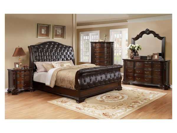 Picture of SHEFFIELD PADDED SLEIGH BED Q