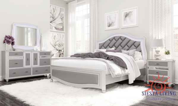 Picture of REMI SILVER QUEEN 7PC BEDROOM