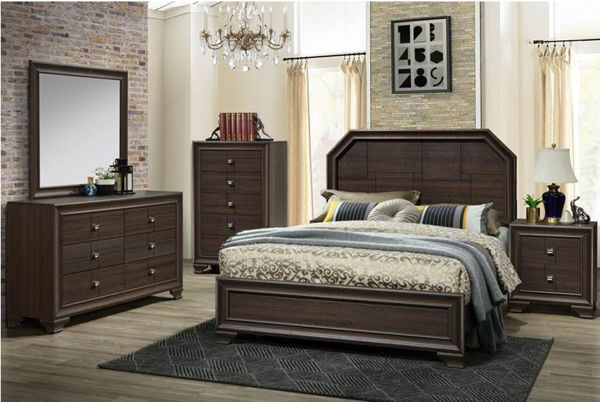 Picture of PACO BROWN KING 7PC BEDROOM