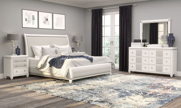 Picture of CASSIE WHITE/SILVER 7P BEDROOM