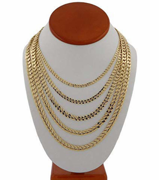 Picture of 14K GOLD CUBAN CHAIN 5MM 22''