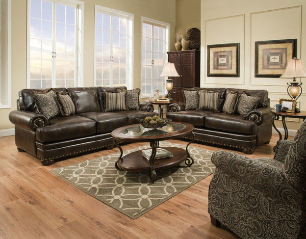 Picture of TRILATERAL CHOCOLATE LOVESEAT